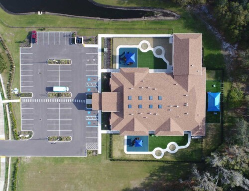 Drone Imagery of a Tampa Creative World School by ABI Companies, Inc. – 250 FT ALT